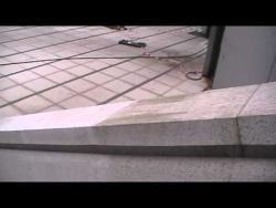 Aerogommage nettoyage mur